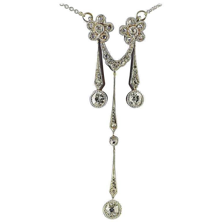Edwardian, Diamond, Gold and Platinum Pendant, circa 1910