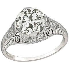 Vintage GIA Certified 2.53 Carat Diamond Engagement Ring