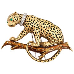 David Webb Leopard Brooch