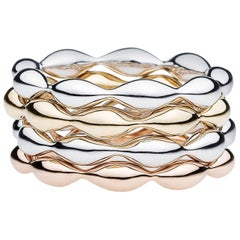 Towe Norlen Cupido Contemporary Set-of-Four Stackable Gold Rings
