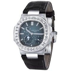 Patek Philippe White Gold Diamond Nautilus Special Edition Wristwatch