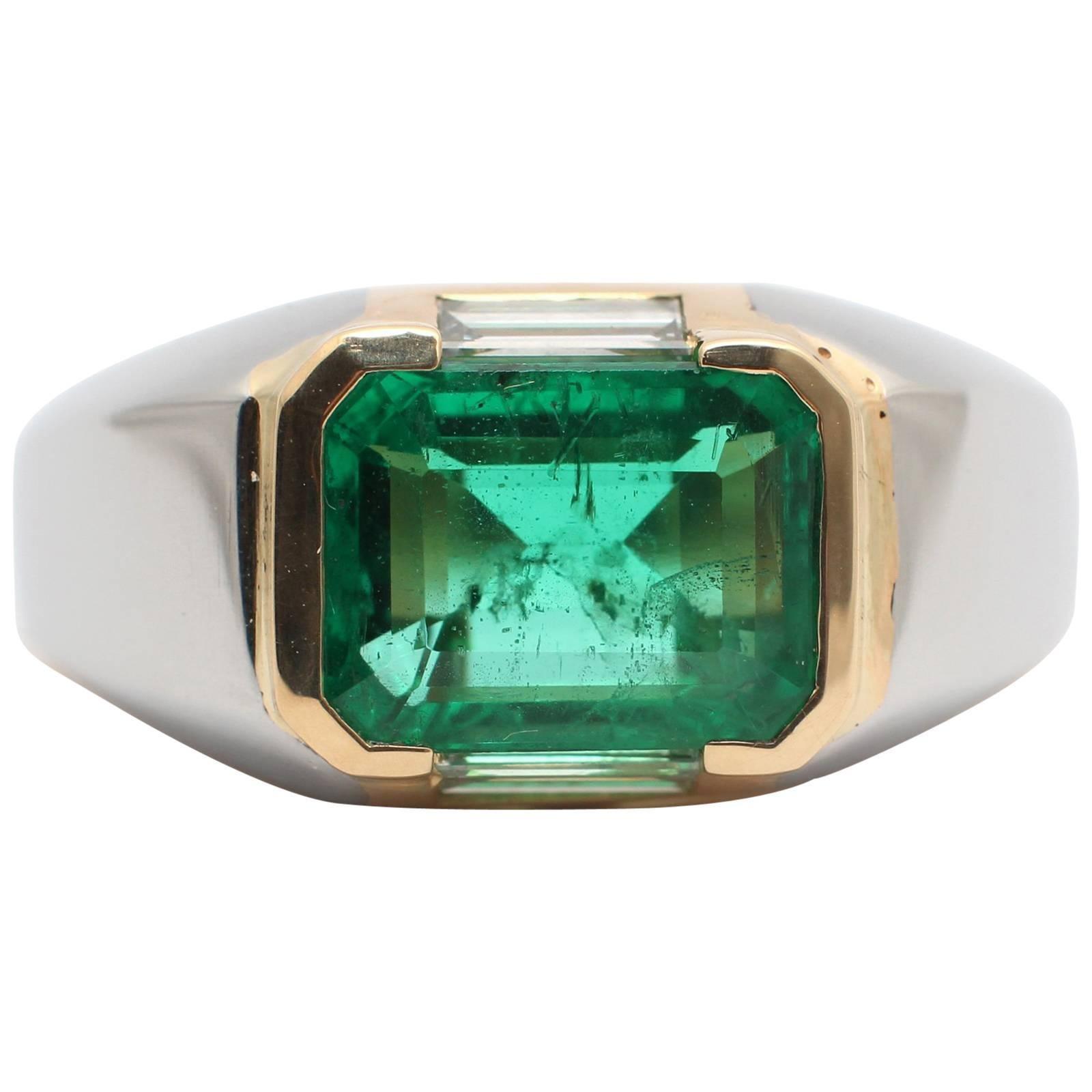 bulgari emerald diamond gold engagement ring