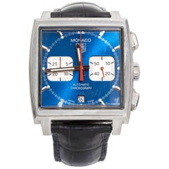 Tagheur Monaco Stainless Steel Chronograph Automatic Wristwatch