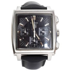 Tagheur Monaco Stainless Steel Wristwatch
