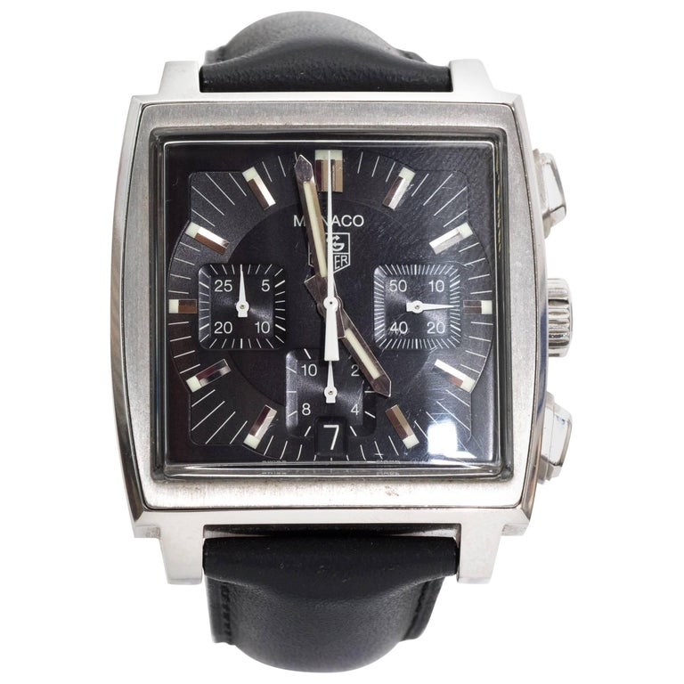 Tagheur Monaco Stainless Steel Wristwatch 1