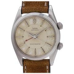 Tudor Stainless Steel Advisor Alarm Manual Wind Wristwatch Ref 7926, circa 1958
