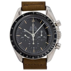 Omega Stainless Steel Speedmaster Pre Man on the Moon Manual Wind Wristwatch
