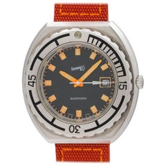 Eberhard & Co. Stainless Steel Diver's Automatic Wristwatch, circa 1970s