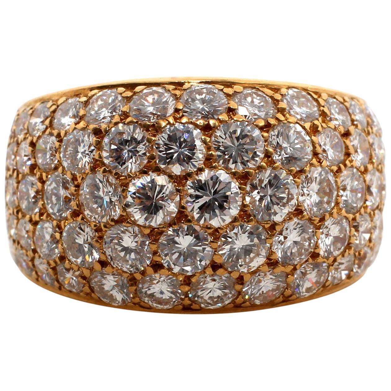 bulgari diamond gold dress ring