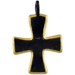 Byzantine Bronze Crusader Cross Pendant