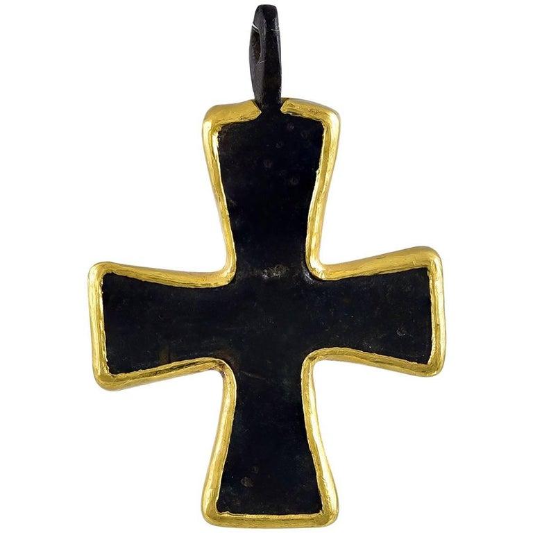 Byzantine bronze crusader cross pendant at 1stdibs byzantine bronze crusader cross pendant 1 mozeypictures Images