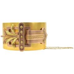 Antique Two Color Gold Bracelet
