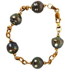 Tahitian Pearl Gold Bracelet