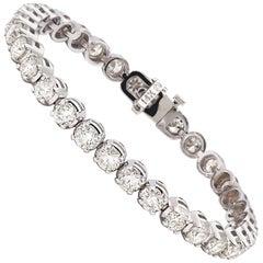 10.66 Carat Diamond Tennis Bracelet