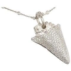 """Shark Tooth"" Diamond Pendant by Loree Rodkin"
