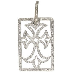 Loree Rodkin Diamond Trefoil Cross Pendant Estate of Jackie Collins