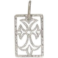 Loree Rodkin Diamond Trefoil Cross Pendant Estate of Jackie Collins