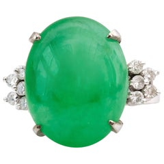 1960s Jade and Diamond Ring