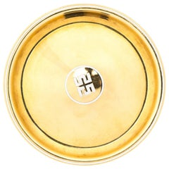 1960s Cartier Solid 18 Karat Yellow Gold Happiness Plate