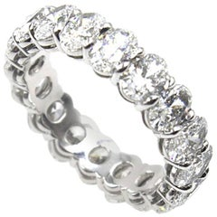 Oval Diamond Platinum Eternity Band