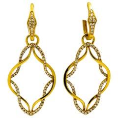 Katie Decker Diamond Gold Earrings
