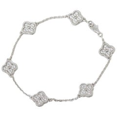 Van Cleef & Arpels Diamond Sweet Alhambra Bracelet