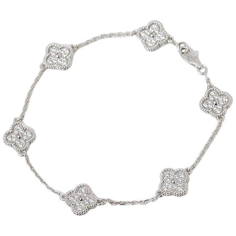 Van Cleef & Arpels Diamond Sweet Alhambra Bracelet 1