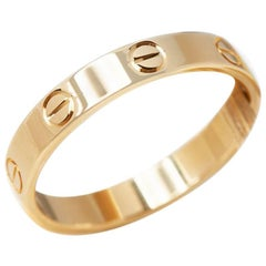 Cartier Yellow Gold Mini Love Ring