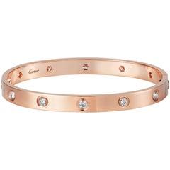 Cartier Love Bracelet Diamond Pink Gold Bangle