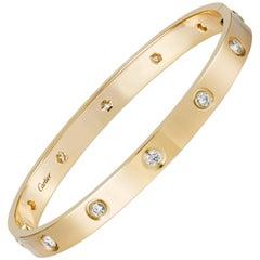 Cartier Love Bracelet Diamond Yellow Gold Bangle