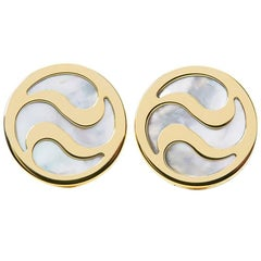 Bulgari Mother-of-Pearl Gold Cufflinks