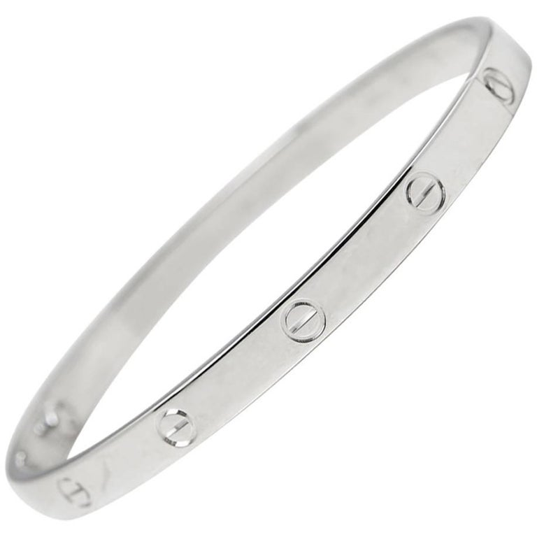 Cartier White Gold Love Bangle 1