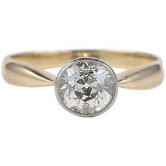 1.38 Carat Diamond Solitaire Victorian Ring