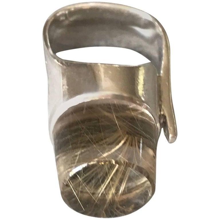 "Vivianna Torun ""Biot"" Period Sterling Silver Modernist Ring"