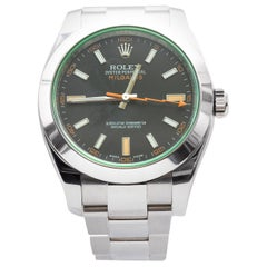 Rolex Stainless Steel Milgauss Automatic Wristwatch Ref 116400, 2008