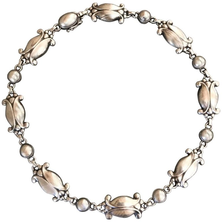 Georg Jensen Sterling Silver Necklace, No. 15 For Sale