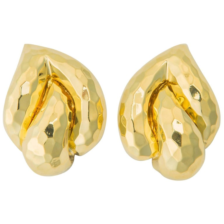 Elegant Henry Dunay Faceted Earrings