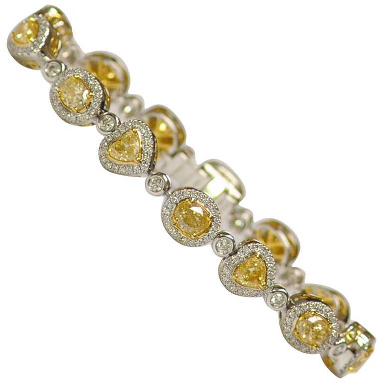 Yael Jewelry Yellow Diamond Bracelet 1