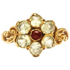 Regency Chrysolite Flower and Scroll Ring