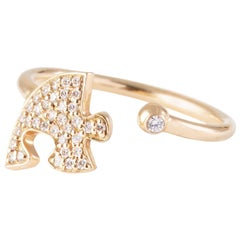 "Paige Novick ""You're My Missing Piece Engagement 18k Yellow Gold Ring"""