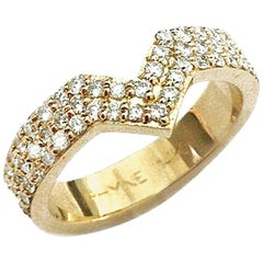 Paige Novick Triple Row Diamond Engagement Band Ring