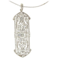 Antique Diamond Platinum Pendant
