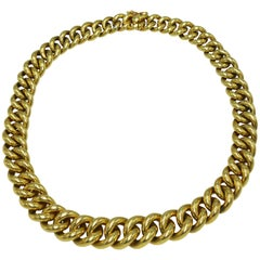 French Cartier Gold Link Necklace
