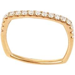 Rose Gold Diamond Square Wedding Ring Band