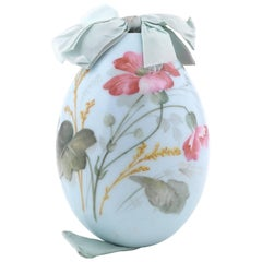 Russian Porcelain Easter Egg Art Nouveau Style