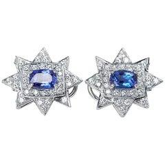 Tanzanite Diamond Earrings