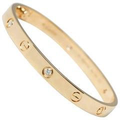 Cartier Diamond Yellow Gold Love Bracelet
