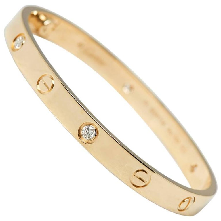 Cartier Diamond Yellow Gold Love Bracelet 1