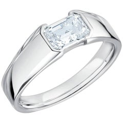 1.01 Carat GIA Certified Platinum Diamond Solitaire Ring
