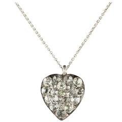 Antique Georgian Paste Heart Necklace, circa 1800